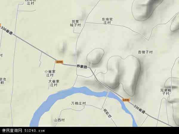 中国山东省临沂市沂南县马牧池乡地图(卫星地图)