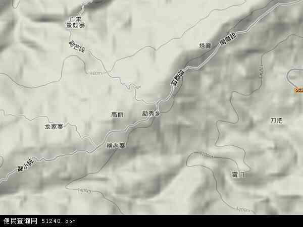 中国云南省德宏傣族景颇族自治州瑞丽市勐秀乡地图