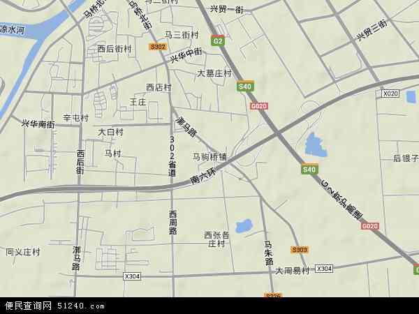 中国北京市通州区马驹桥镇地图(卫星地图)