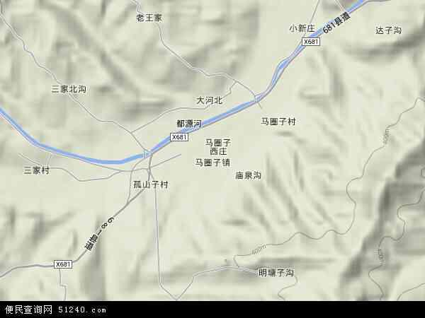 省秦皇岛市青龙满族自治县马圈子镇地图(卫星地图)