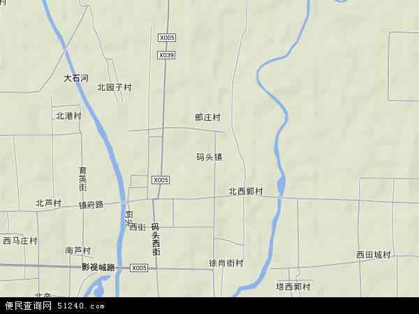 中国河北省保定市涿州市码头镇地图(卫星地图)