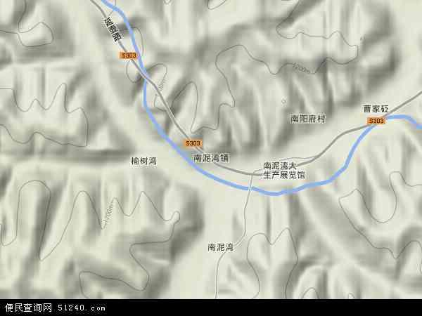 中国陕西省延安市宝塔区南泥湾镇地图(卫星地图)