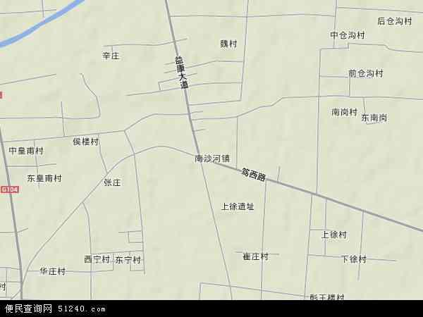 南沙河镇地形图 - 南沙河镇地形图高清版 - 2017年南沙河镇地形图