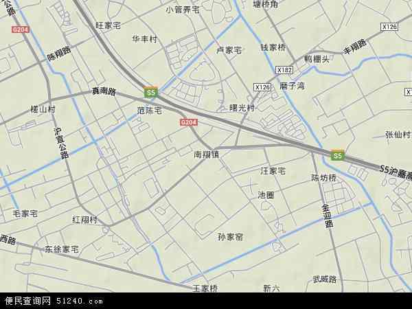 中国上海市嘉定区南翔镇地图(卫星地图)
