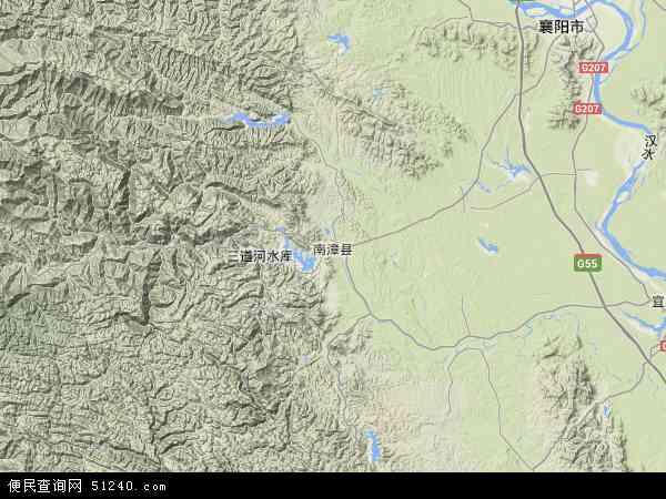 中国湖北省襄阳市南漳县地图(卫星地图)