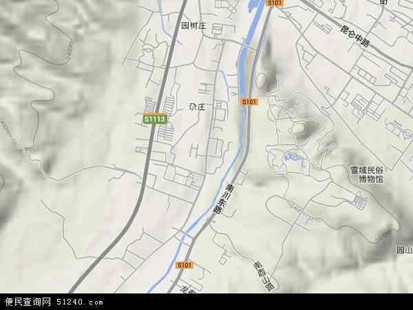 南川西路高清卫星地图 南川西路2018年卫星地图 中国青海省西宁市图片