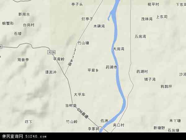 中国湖南省郴州市安仁县平背乡地图(卫星地图)