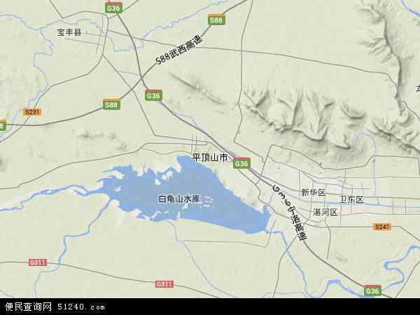 平顶山市地图 - 平顶山市卫星地图