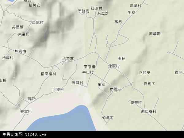 中国福建省福州市平潭县平原镇地图(卫星地图)