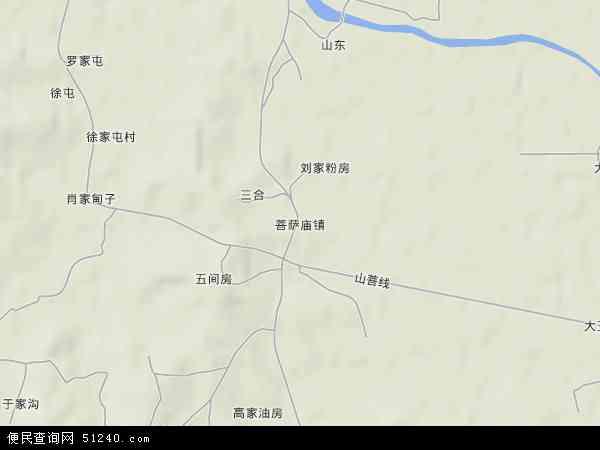 中国辽宁省丹东市东港市菩萨庙镇地图(卫星地图)