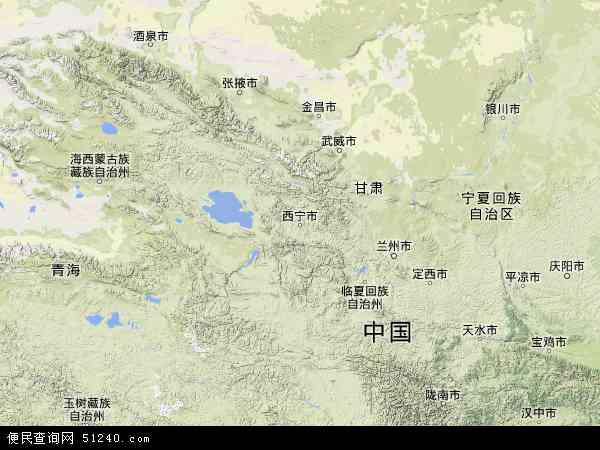 青海省地图 青海省卫星地图 青海省高清航拍地图 青海省高清卫星地图
