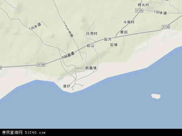中国广东省揭阳市惠来县前詹镇地图(卫星地图)