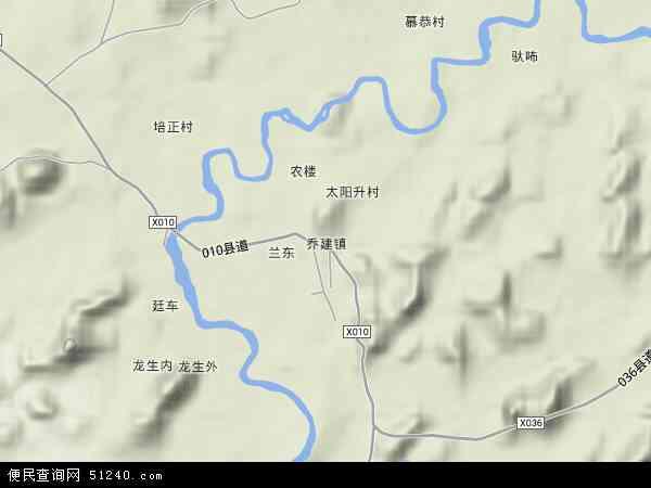 隆安县乔建镇地图