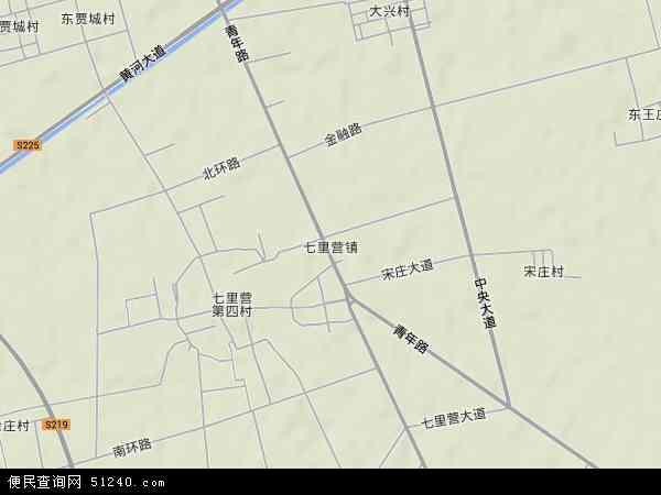 中国河南省新乡市新乡县七里营镇地图(卫星地图)