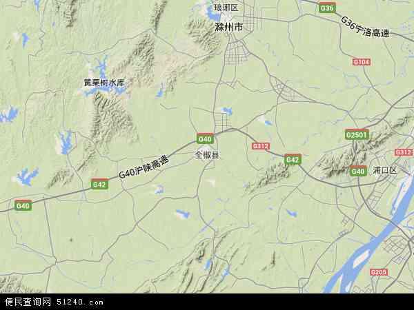 全椒县地图 - 全椒县卫星地图