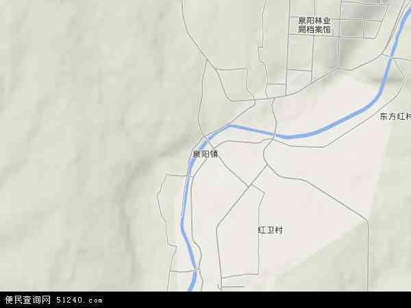 中国吉林省白山市抚松县泉阳镇地图(卫星地图)图片