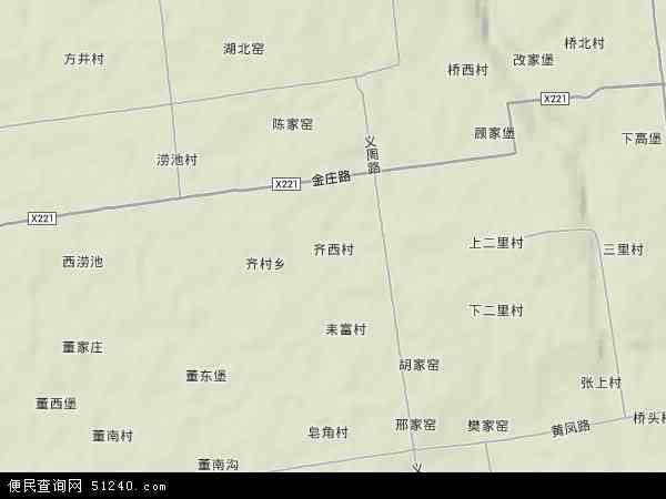 中国陕西省渭南市富平县齐村镇地图(卫星地图)