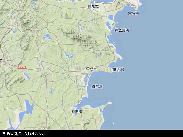 荣成市高清卫星地图 荣成市2017年卫星地图 中国山东省威海市荣成图片