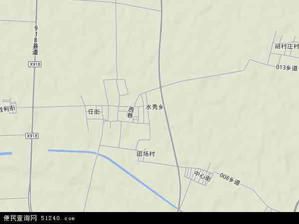 中国山西省晋中市太谷县水秀乡地图(卫星地图)