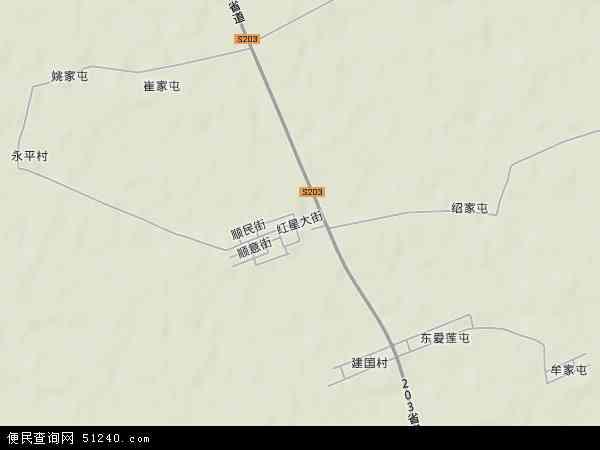 中国黑龙江省哈尔滨市方正县松南乡地图(卫星地图)图片