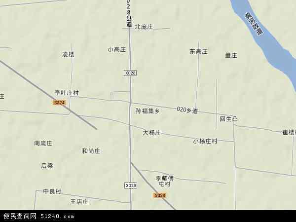 中国河南省商丘市梁园区孙福集乡地图(卫星地图)图片