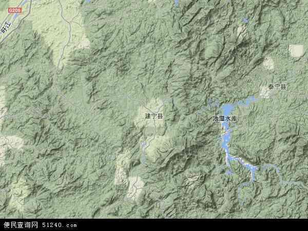 中国福建省三明市建宁县濉溪镇地图(卫星地图)