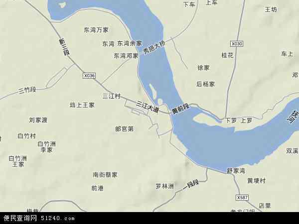 中国江西省南昌市南昌县三江镇地图(卫星地图)