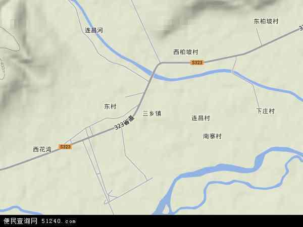 三乡镇地图 - 三乡镇卫星地图