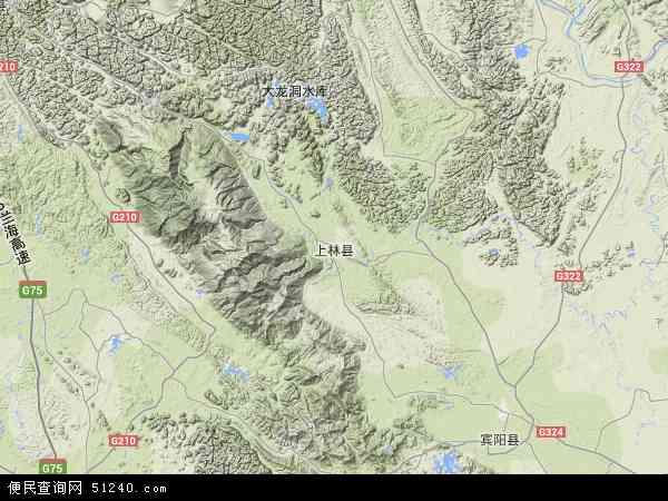 上林县高清卫星地图 上林县2018年卫星地图 中国广西壮族自治区南