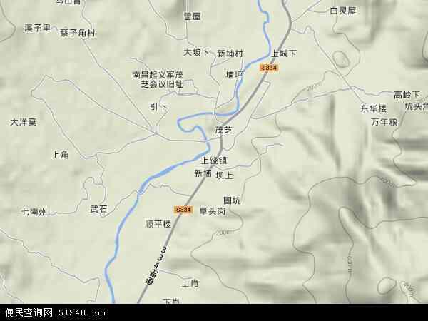 上饶镇地图 - 上饶镇卫星地图
