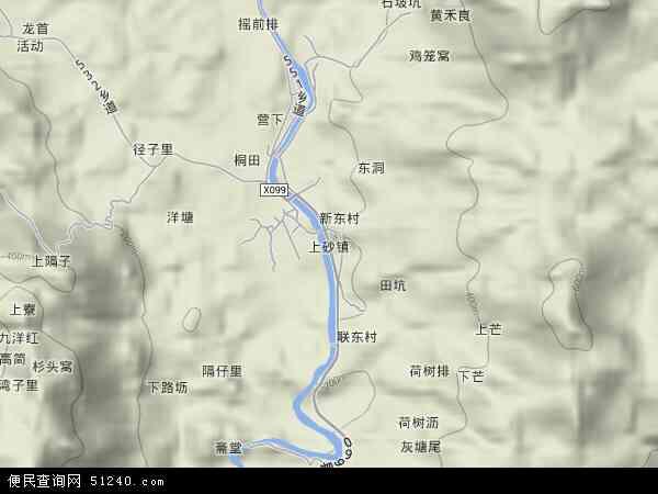 中国广东省揭阳市揭西县上砂镇地图(卫星地图)