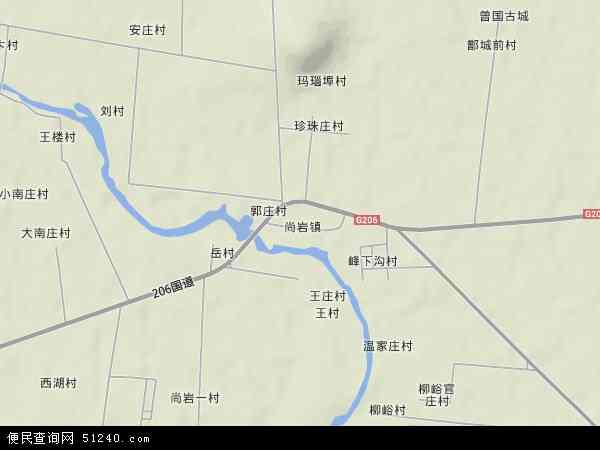 中国山东省临沂市苍山县尚岩镇地图(卫星地图)