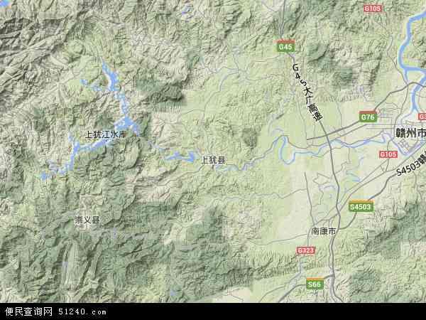 县地图 上犹县卫星地图 上犹县高清航拍地图 上犹县高清卫星地图 上图片