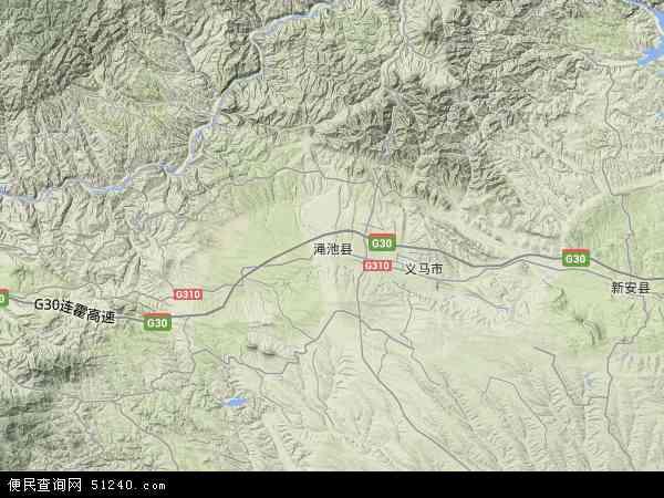中国河南省三门峡市渑池县地图(卫星地图)