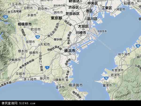 神奈川高清卫星航拍地图