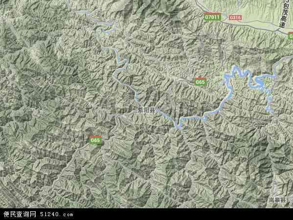 中国陕西省安康市紫阳县双安镇地图(卫星地图)