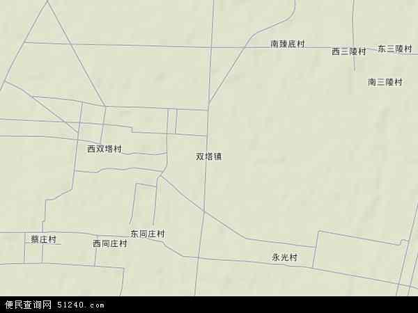 中国河北省邯郸市鸡泽县双塔镇地图(卫星地图)