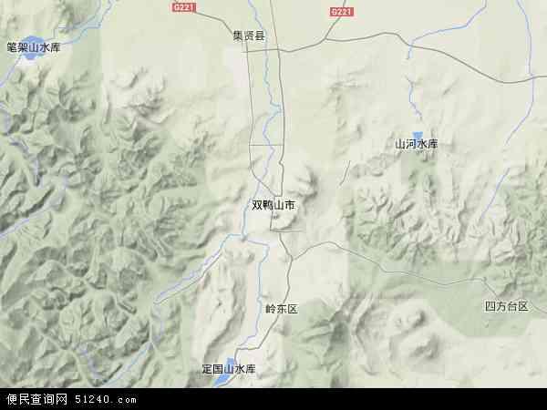 青岛四方区地形图