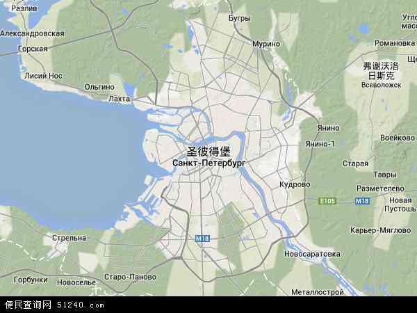圣彼得堡地图 - 圣彼得堡卫星地图