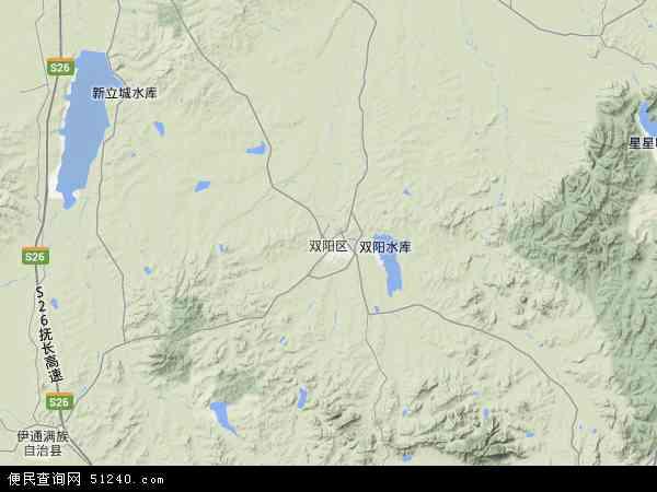 中国吉林省长春市双阳区地图(卫星地图)
