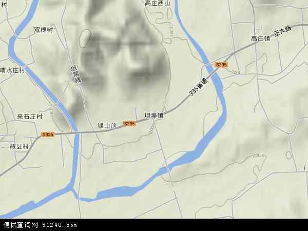 中国山东省临沂市蒙阴县坦埠镇地图(卫星地图)