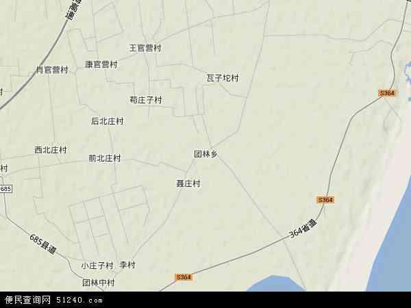 中国河北省秦皇岛市昌黎县团林乡地图(卫星地图)