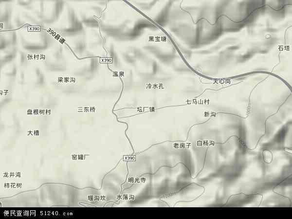 中国贵州省遵义市仁怀市坛厂镇地图(卫星地图)