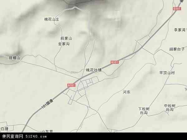 中国辽宁省朝阳市双塔区桃花吐镇地图(卫星地图)