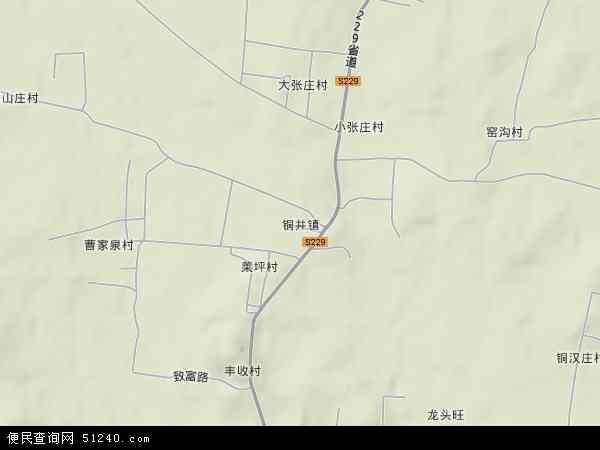 中国山东省临沂市沂南县铜井镇地图(卫星地图)