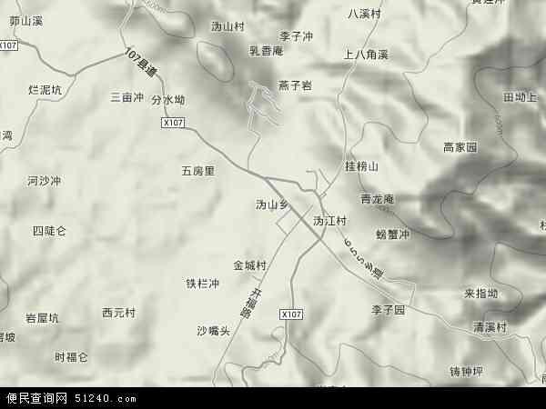 沩山乡地形地图