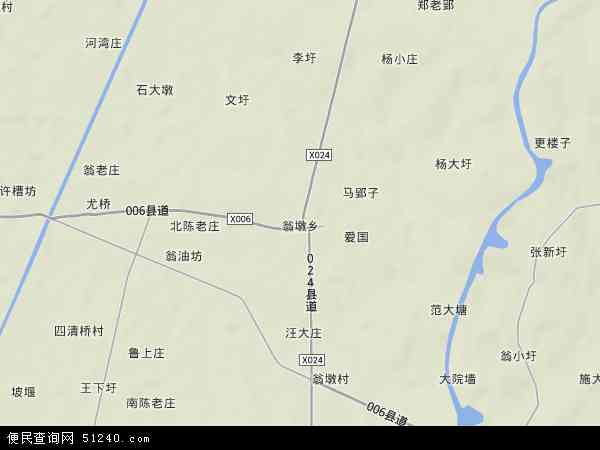 中国安徽省六安市金安区翁墩乡地图(卫星地图)