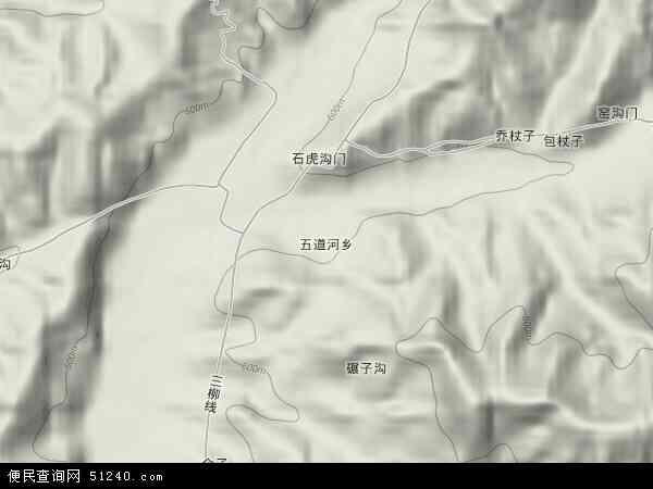 中国河北省承德市承德县五道河乡地图(卫星地图)