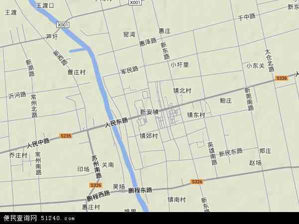 新安镇地图 - 新安镇卫星地图