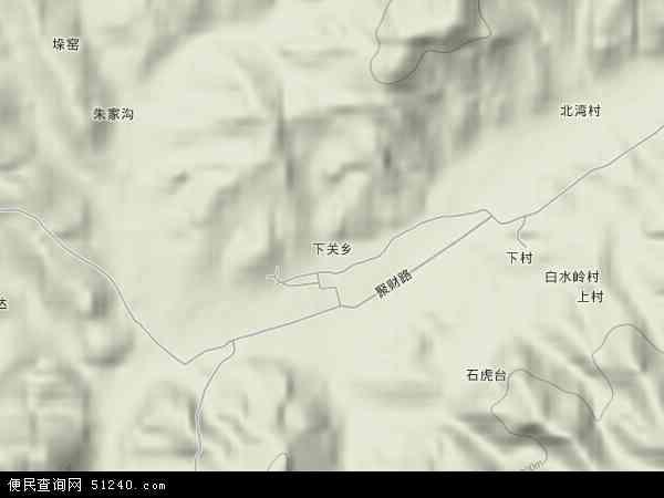 下关乡北斗卫星地图2014